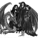 otiv Nachts beim BAT Hexen Elfen Fabelwesen
